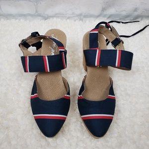 Free People wood heel sandals 38 US 8